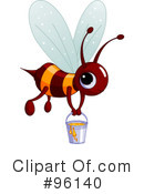 Royalty-Free (RF) Bee Clipart Illustration #96140
