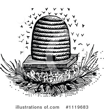 Bees Clipart #1119683 by Prawny Vintage