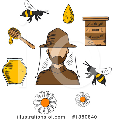 Bee Clipart #1380840 by Vector Tradition SM