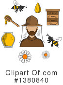 Beekeeping Clipart #1380840 by Vector Tradition SM
