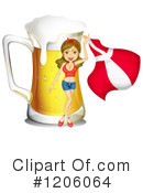 Royalty-Free (RF) Beer Clipart Illustration #1206064