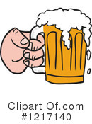 Beer Clipart #1217140 by LaffToon