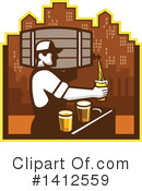 Royalty-Free (RF) Beer Clipart Illustration #1412559
