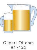 Royalty-Free (RF) beer Clipart Illustration #17125