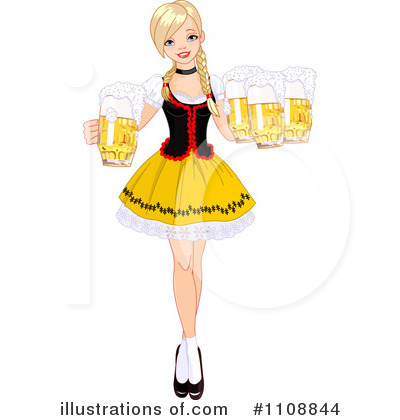 Beer Maiden Clipart #1108844 by Pushkin