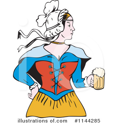 Beer Maiden Clipart #1144285 by patrimonio