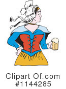 Royalty-Free (RF) beer maiden Clipart Illustration #1144285