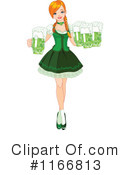 Royalty-Free (RF) Beer Maiden Clipart Illustration #1166813