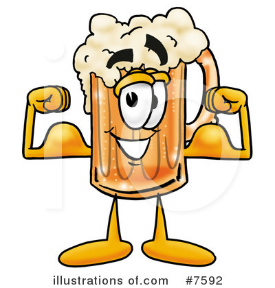 Beer Mug Clipart #7592 - Illustration by Toons4Biz