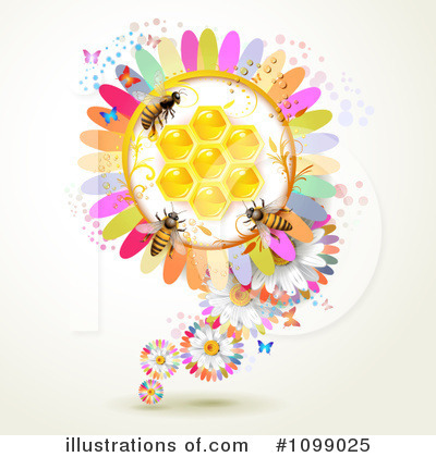 Honey Bee Clipart #1099025 by merlinul
