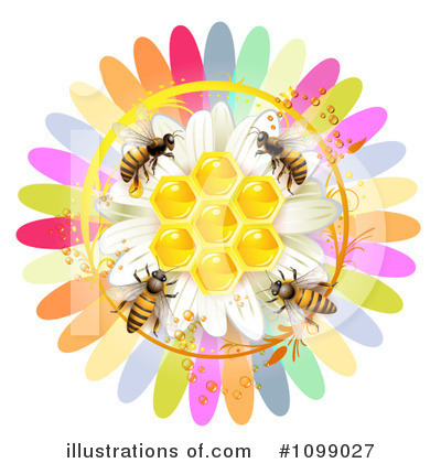 Honey Bee Clipart #1099027 by merlinul