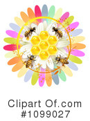 Royalty-Free (RF) Bees Clipart Illustration #1099027