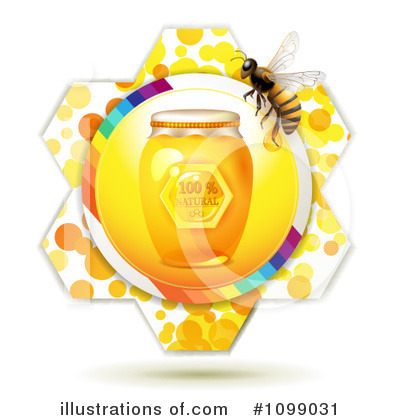 Honey Bee Clipart #1099031 by merlinul