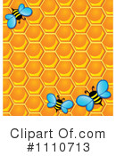 Royalty-Free (RF) Bees Clipart Illustration #1110713