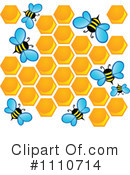 Royalty-Free (RF) Bees Clipart Illustration #1110714