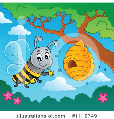 Bee Hive Clipart #1110749 by visekart