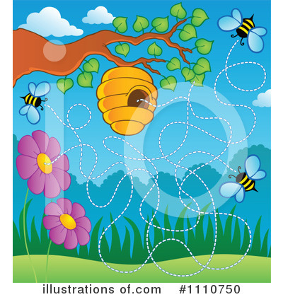 Bee Hive Clipart #1110750 by visekart