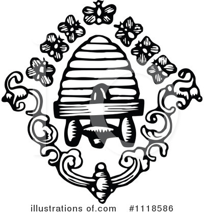 Royalty-Free (RF) Bees Clipart Illustration by Prawny Vintage - Stock Sample #1118586