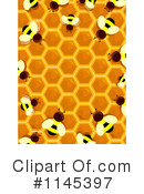 Royalty-Free (RF) Bees Clipart Illustration #1145397
