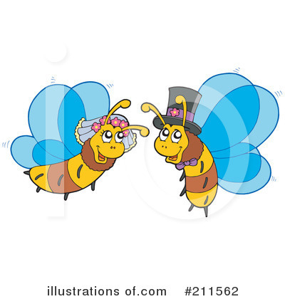 Royalty-Free (RF) Bees Clipart Illustration by visekart - Stock Sample #211562