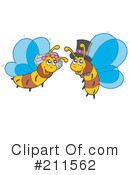 Royalty-Free (RF) Bees Clipart Illustration #211562