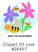 Royalty-Free (RF) Bees Clipart Illustration #26407