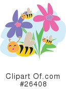 Royalty-Free (RF) Bees Clipart Illustration #26408
