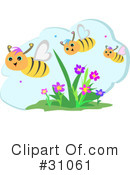 Royalty-Free (RF) Bees Clipart Illustration #31061