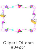 Royalty-Free (RF) Bees Clipart Illustration #34261