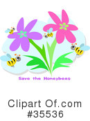 Royalty-Free (RF) Bees Clipart Illustration #35536