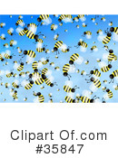 Royalty-Free (RF) Bees Clipart Illustration #35847
