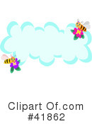 Royalty-Free (RF) Bees Clipart Illustration #41862