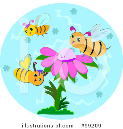 Royalty-Free (RF) Bees Clipart Illustration by bpearth - Stock Sample #99209