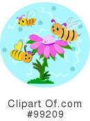 Royalty-Free (RF) Bees Clipart Illustration #99209