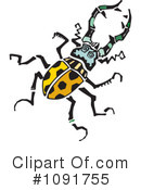 Royalty-Free (RF) Beetle Clipart Illustration #1091755