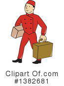 Bellboy Clipart #1382681 by patrimonio