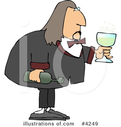 Waiter Clipart #4249 by djart