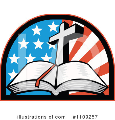 American Flag Clipart #1109257 by patrimonio
