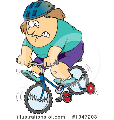 Bicycle Clipart #1047203 by toonaday