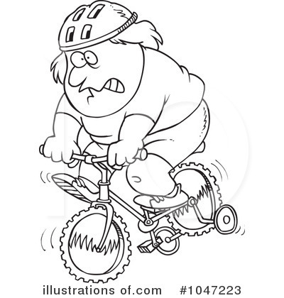 Bicycle Clipart #1047223 by toonaday