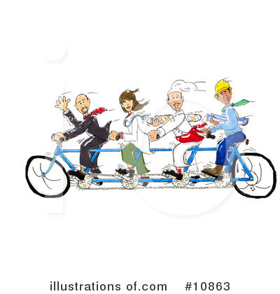 Tandem Bicycle Clipart #10863 by Spanky Art