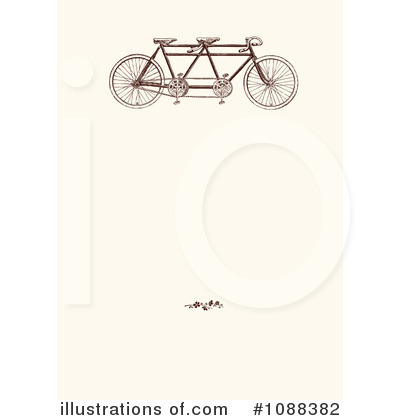 Tandem Bicycle Clipart #1088382 by BestVector