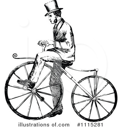 Bicycle Clipart #1115281 by Prawny Vintage