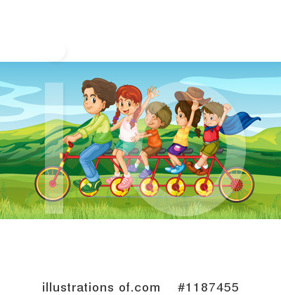 Tandem Bike Clipart #1187455 by Graphics RF