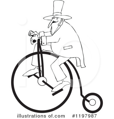Penny Farthing Clipart #1197987 by djart