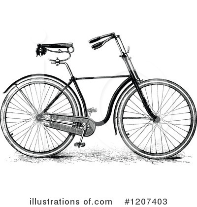 Bicycle Clipart #1207403 by Prawny Vintage