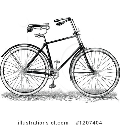 Bicycle Clipart #1207404 by Prawny Vintage