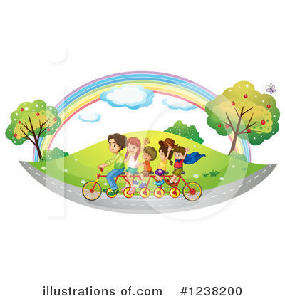 Tandem Bicycle Clipart #1238200 by Graphics RF