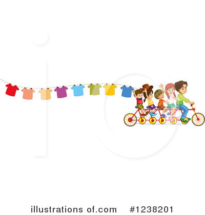 Tandem Bicycle Clipart #1238201 by Graphics RF