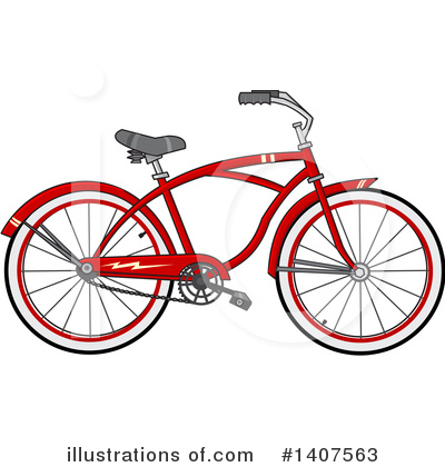 Bicycle Clipart #1407563 by djart